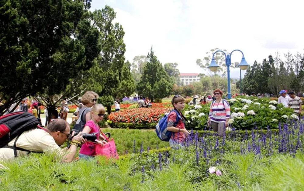 Du khách quốc tế đến Đà Lạt - Lâm Đồng tăng hơn 44%