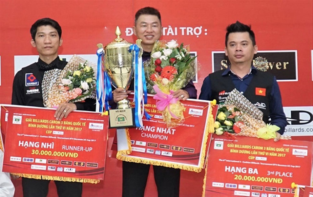 HCM City players top int'l three-cushion billiards tournament