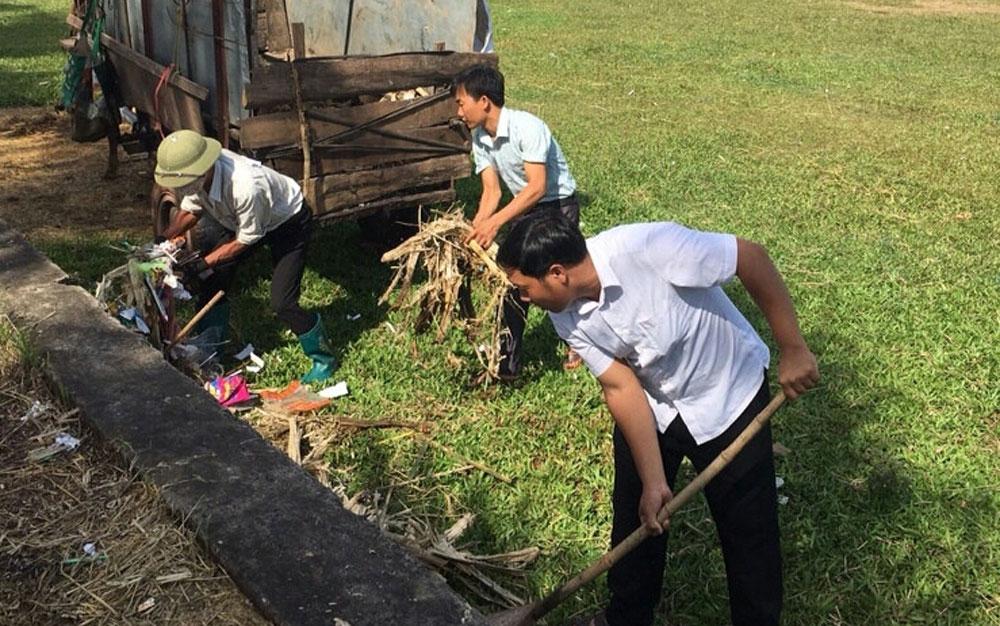 Cao điểm ra quân vệ sinh môi trường ở Lạng Giang: Không để tái diễn rác tồn lưu