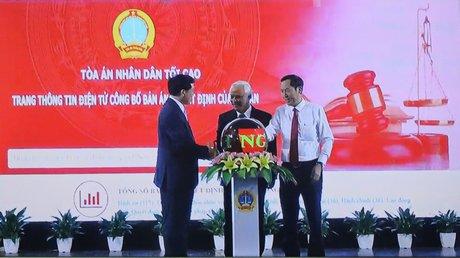 Tòa án nhân dân Tối cao: Khai trương Trang thông tin điện tử công bố bản án, quyết định của tòa án