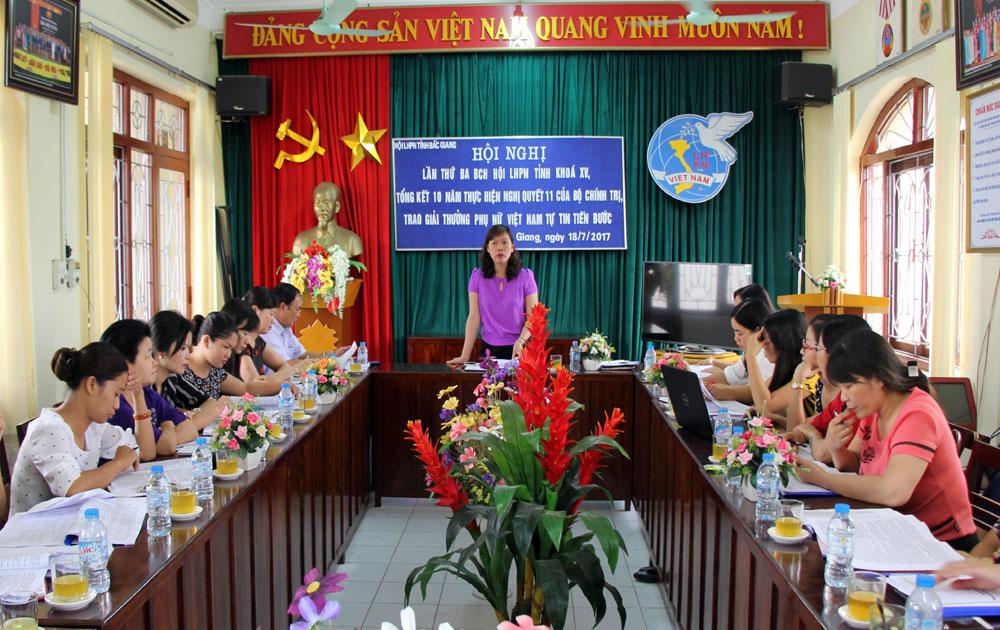 Nâng cao chất lượng công tác phụ nữ