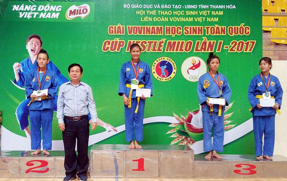Vovinam Bắc Giang giành 8 huy chương giải học sinh toàn quốc