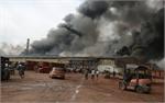 Cháy lớn tại Công ty cổ phần gạch ngói Thạch Bàn