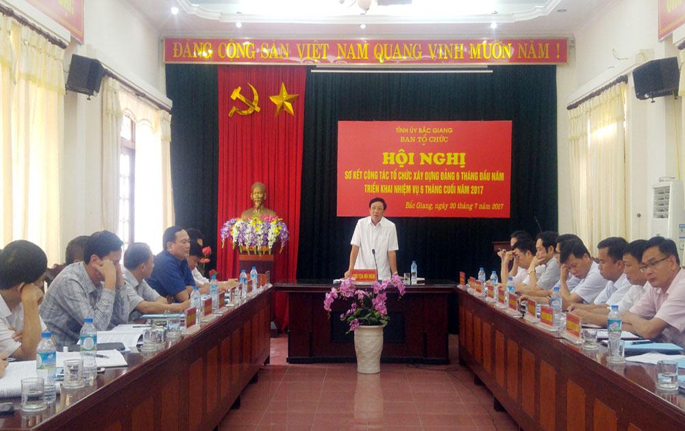 Ban Tổ chức Tỉnh ủy triển khai nhiệm vụ 6 tháng cuối năm