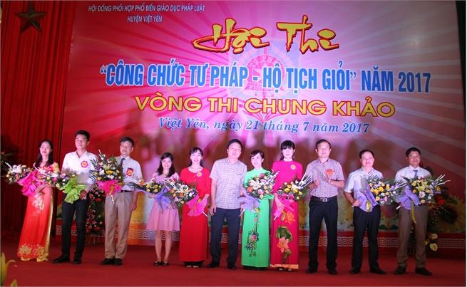 Việt Yên: Chung khảo Hội thi Công chức Tư pháp- Hộ tịch giỏi năm 2017