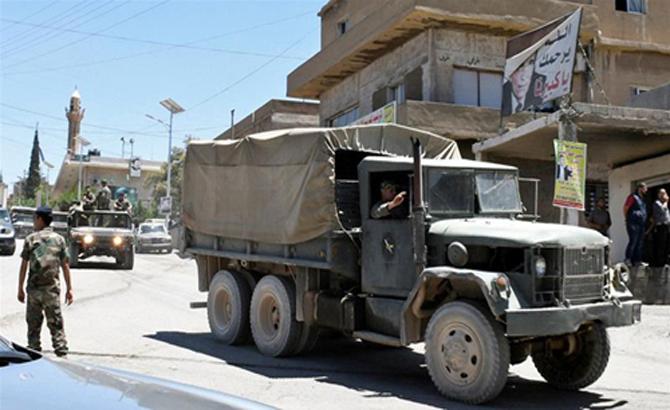 Quân đội Syria tấn công phiến quân tại khu vực giáp Liban