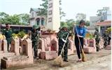 Tuổi trẻ Bộ CHQS tỉnh làm công tác dân vận tại xã Xuân Hương