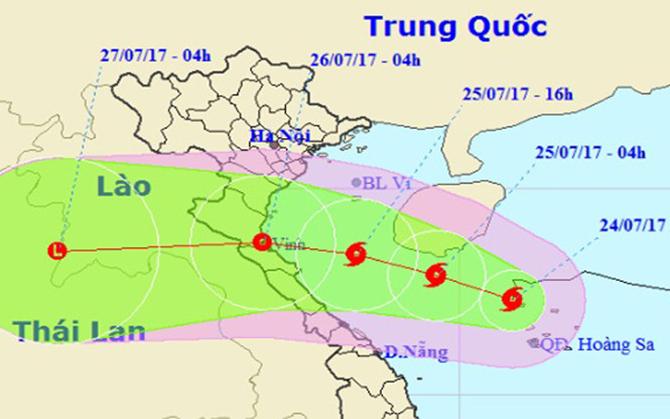 Bão số 4 mạnh cấp 8, hướng vào Thanh Hóa - Quảng Bình