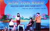 Huyện ủy Hiệp Hòa tổ chức hội thi Dân vận khéo năm 2017