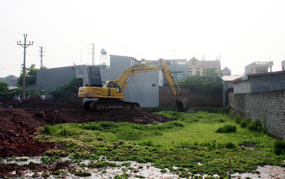 TP Bắc Giang: Cưỡng chế thu hồi đất thực hiện dự án Khu dân cư số 4 đường tỉnh 295B