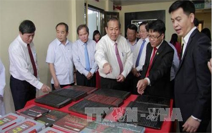 Archives Centre praised for preserving Nguyen dynasty's woodblocks