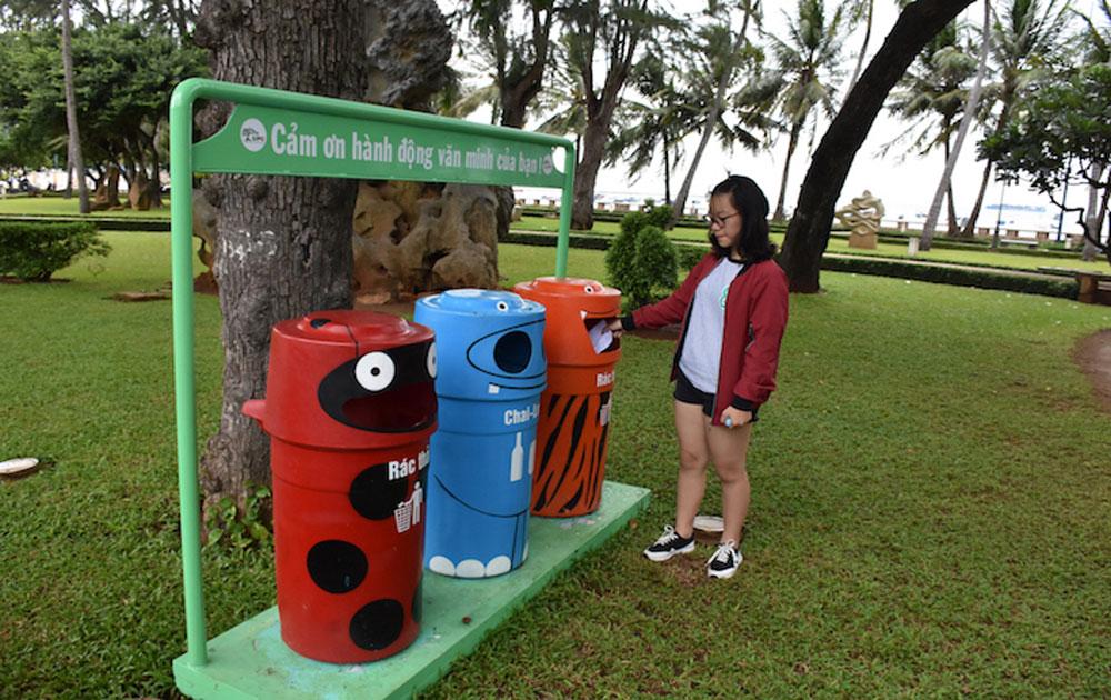 Hệ thống thùng rác bảo vệ môi trường ở Vũng Tàu