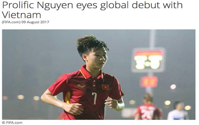 Trang chủ FIFA giới thiệu về ngôi sao của đội tuyển nữ Việt Nam