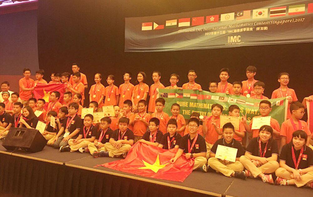 8 học sinh THCS và tiểu học đoạt HCV Toán quốc tế