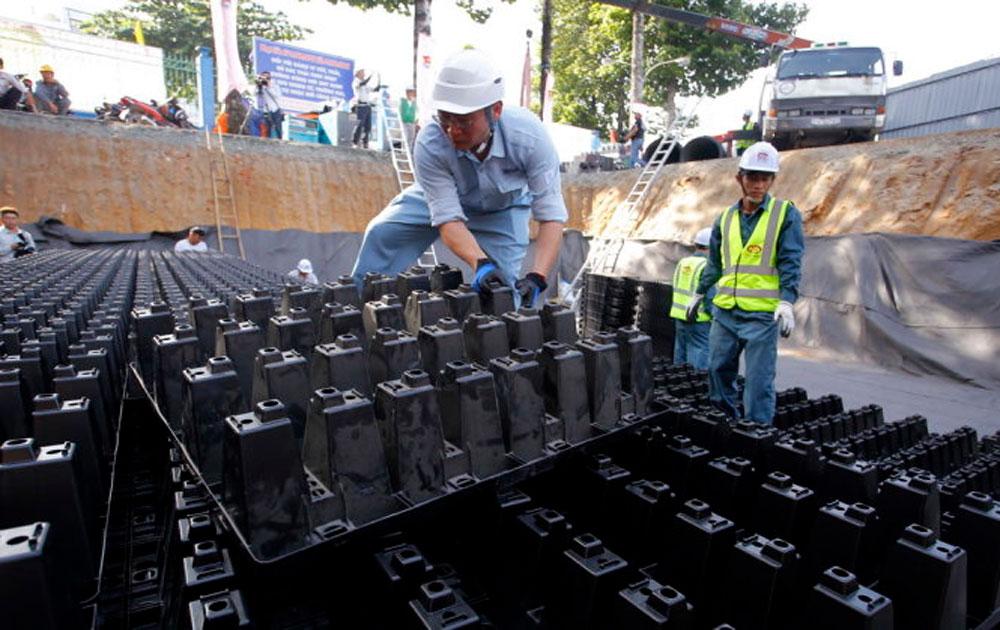 TP Hồ Chí Minh: Hoàn tất xây dựng hồ điều tiết chống ngập đầu tiên