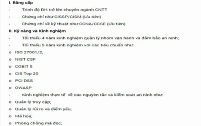 Doanh nghiệp Việt Nam tuyển IT lương 340 triệu đồng/tháng