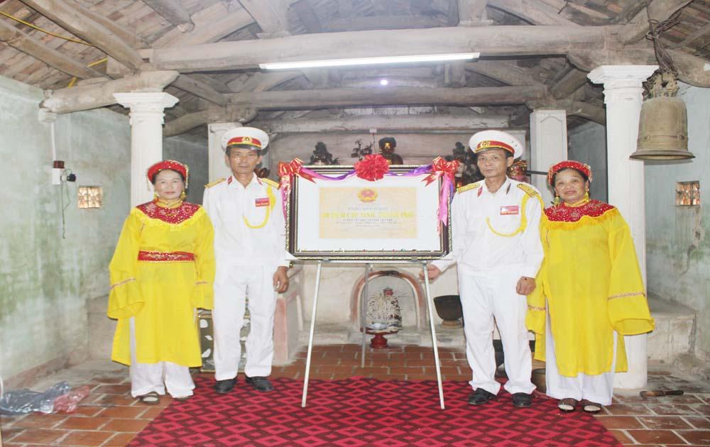 Chùa Quang Ánh được công nhận di tích lịch sử cấp tỉnh