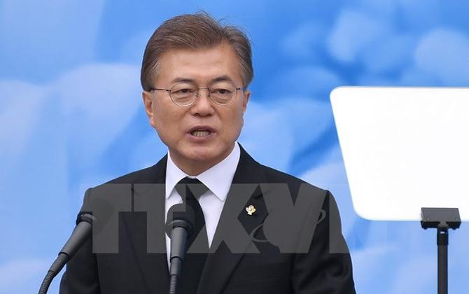 Tỷ lệ ủng hộ Tổng thống Hàn Quốc Moon Jae-in tiếp tục sụt giảm