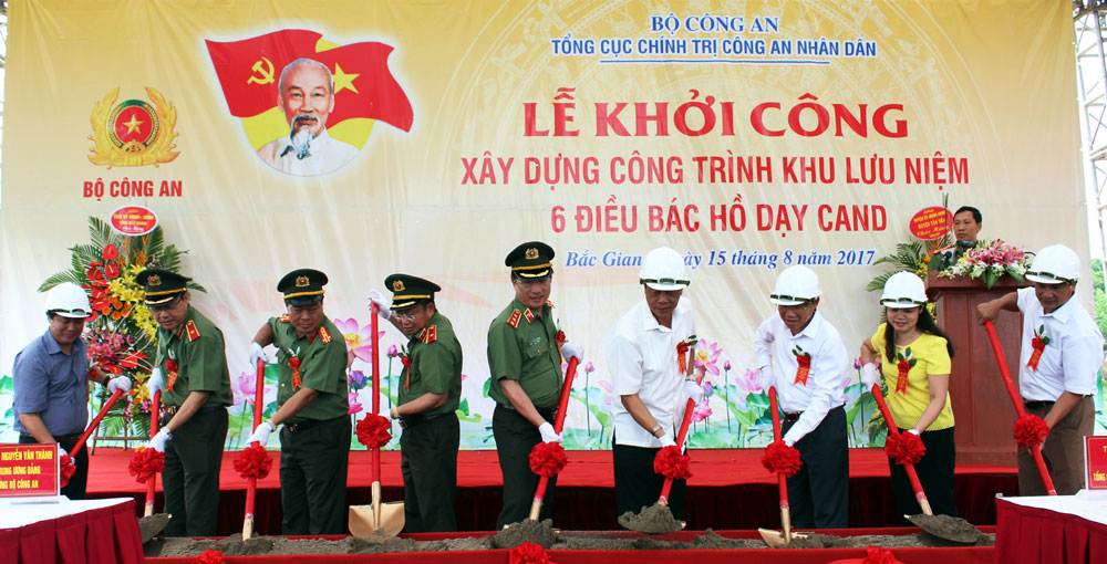 Work starts on site commemorating Uncle Ho's teachings to security force