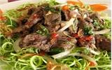 Nộm rau muống thịt bò