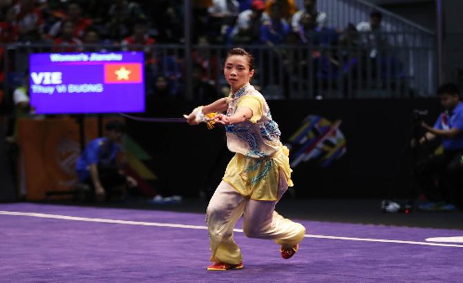 Thúy Vi lần thứ hai mở hàng HCV cho Việt Nam ở SEA Games