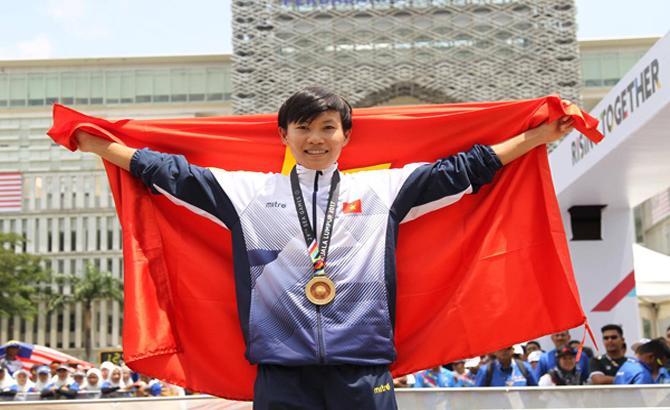 Nguyễn Thị Thật giành HCV đua xe đạp