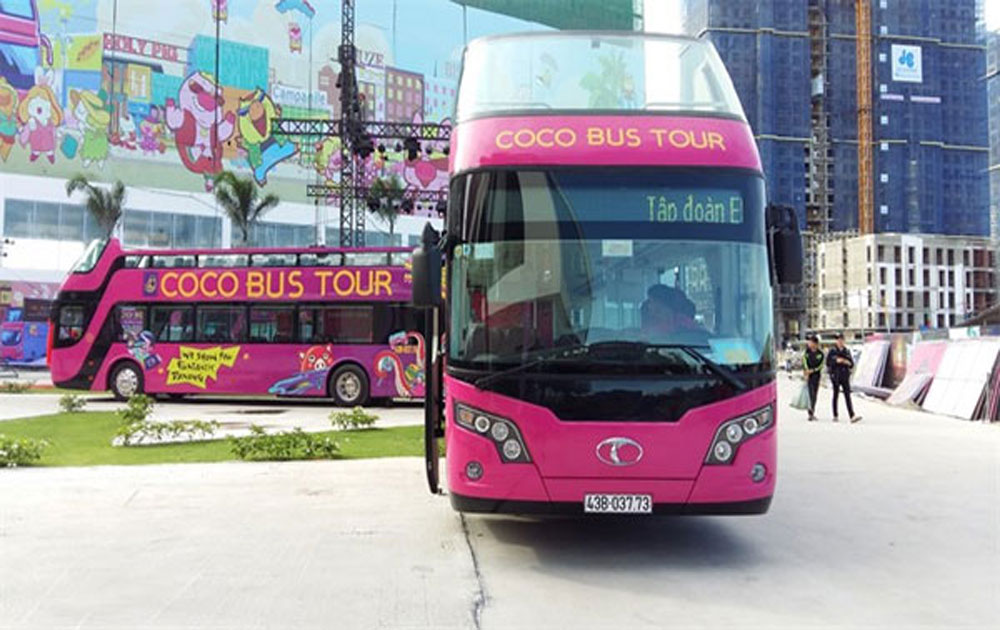 Central city, Da Nang city, open- top bus tours, double-decker bus tour, 54-seat bus, Empire Group, Coco bus tour