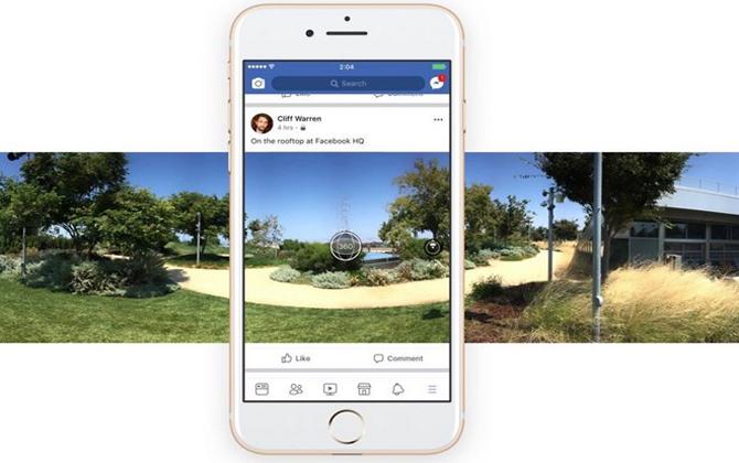 Facebook ra mắt chức năng chụp ảnh 360 độ trong ứng dụng