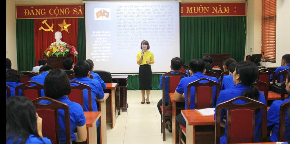 Đoàn Các cơ quan tỉnh, Phát động, đoàn viên, thi tìm hiểu, quan hệ Việt Nam - Lào