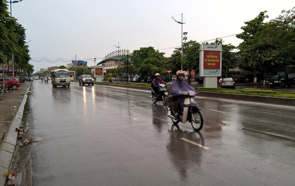 Bắc Giang: Trời có mưa và dông do ảnh hưởng của hoàn lưu vùng áp thấp suy yếu từ bão số 7