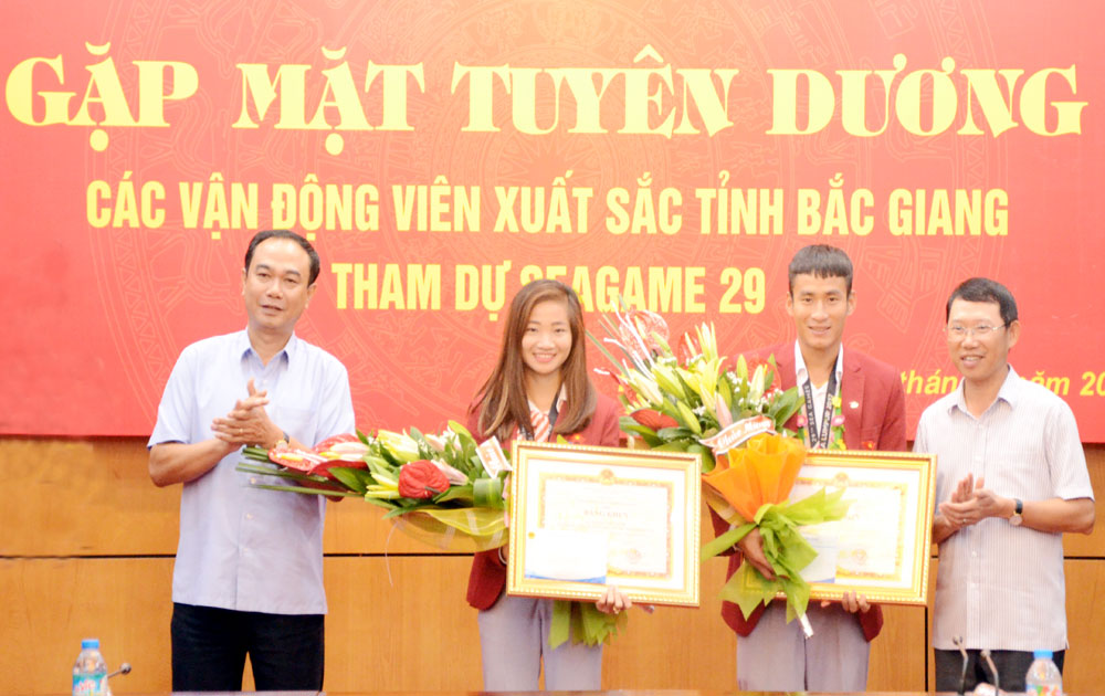 Bac Giang honours SEA Games medalists