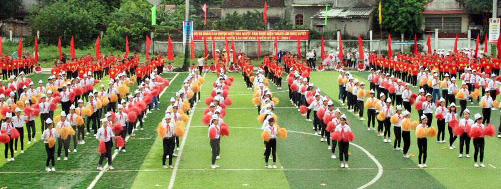 Huyện Hiệp Hòa,  tổ chức,  Đại hội TDTT,  lần thứ VIII, năm 2017,  6,4 nghìn người,  tham gia