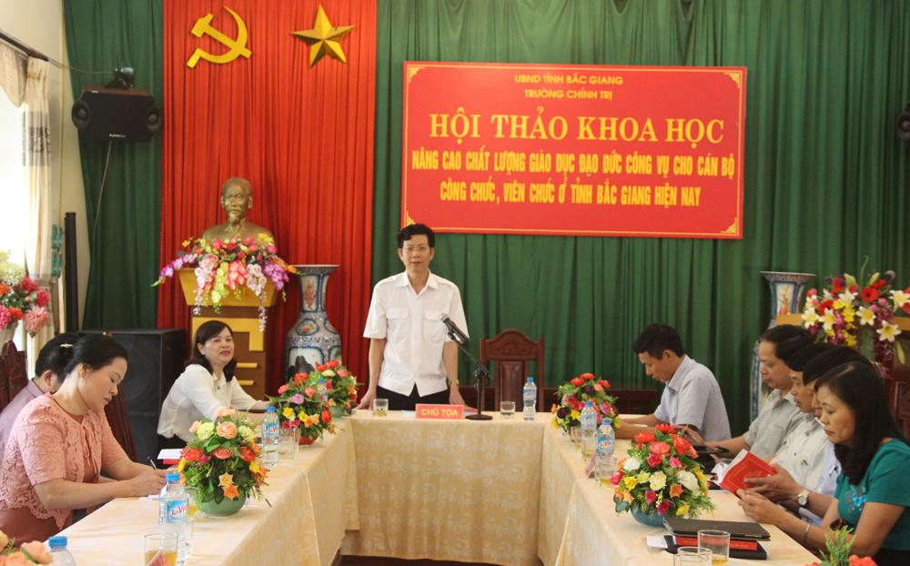 Học tập phong cách Hồ Chí Minh ở Trường Chính trị tỉnh Bắc Giang