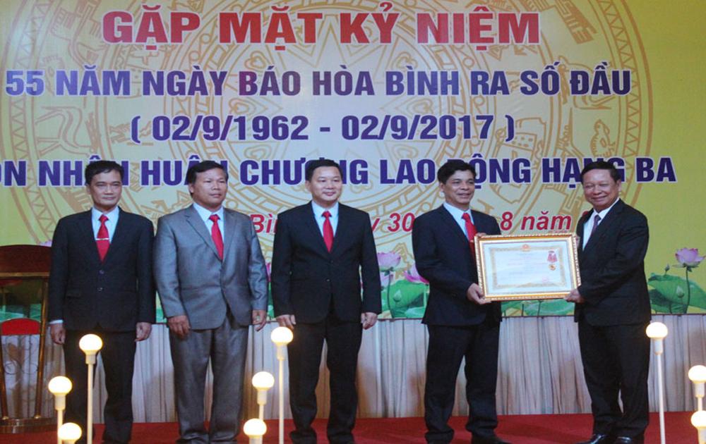 Báo Hòa Bình kỷ niệm 55 năm ngày ra số đầu và đón nhận Huân chương Lao động hạng Ba