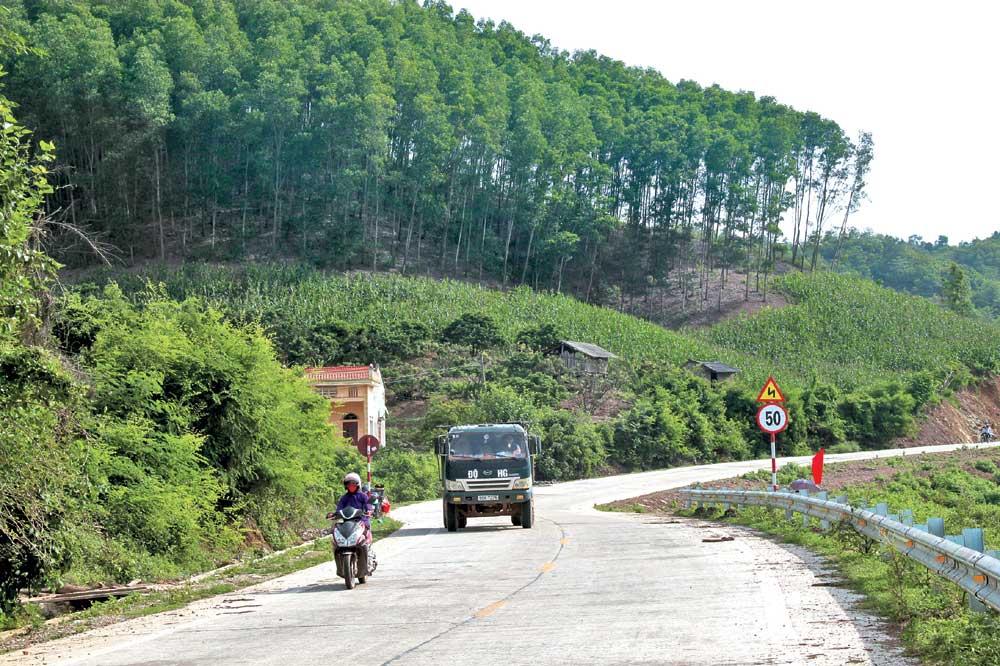 Con đường,  tình quân dân, đèo Váng, Biên Sơn, huyện Lục Ngạn
