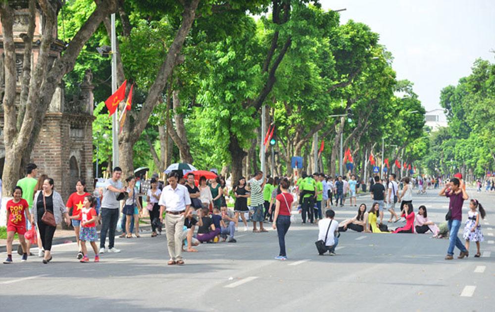 Phố đi bộ hồ Hoàn Kiếm tổ chức nhiều hoạt động dịp Quốc khánh