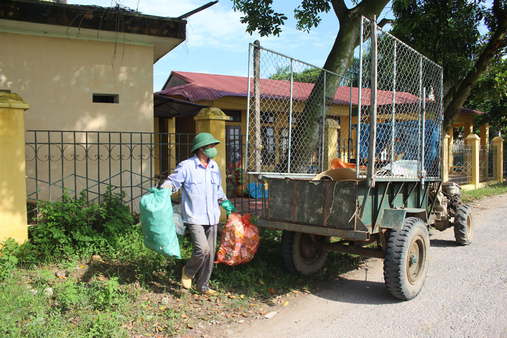 Xã Cảnh Thụy giữ vững tiêu chí môi trường