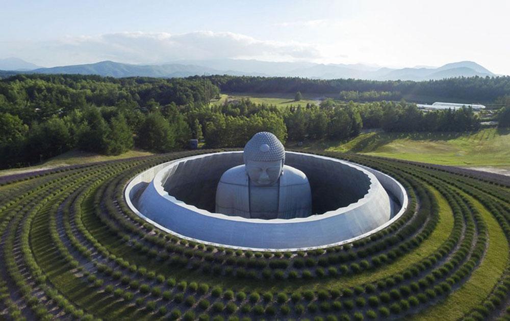 Đồi tượng Phật kỳ lạ nằm giữa cánh đồng hoa oải hương
