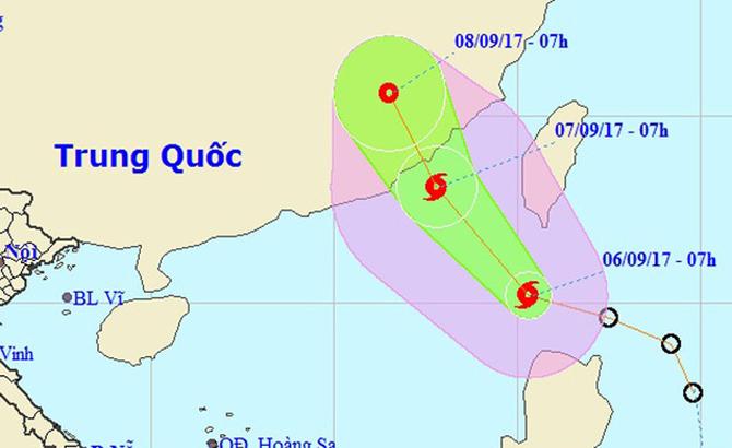 Bão mạnh cấp 8 đang rất gần Biển Đông