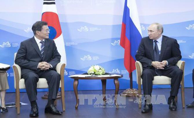 Tổng thống Nga-Hàn kêu gọi nỗ lực giải quyết vấn đề hạt nhân Triều Tiên