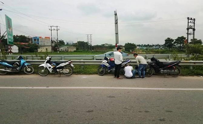 Nguyên nhân hàng loạt xe thủng lốp trên cao tốc Hà Nội-Bắc Giang