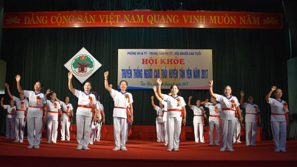 Tân Yên tổ chức Hội khỏe Người cao tuổi năm 2017
