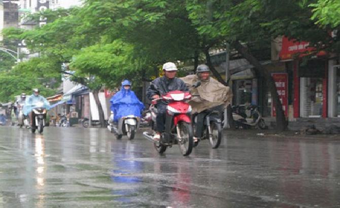 Miền Bắc, tiếp tục, mưa, miền Trung, nắng nóng, nhiệt độ, tăng