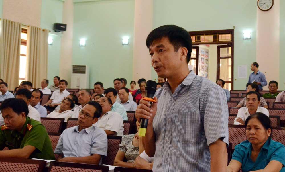 Phó Bí thư, Thường trực, Tỉnh ủy, Thân Văn Khoa, tiếp xúc, đối thoại, đảng viên,  Việt Yên
