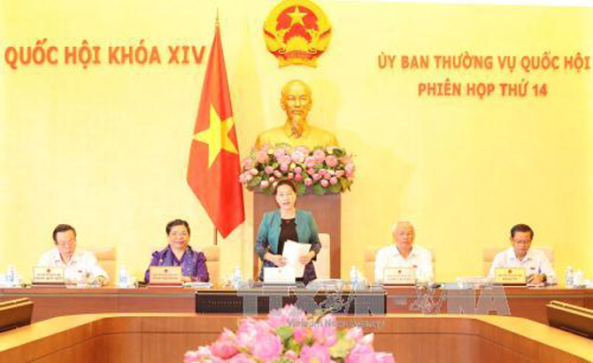 Khai mạc phiên họp thứ 14 của Ủy ban Thường vụ Quốc hội