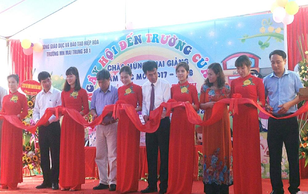 Đại sứ quán Ấn Độ, tài trợ, xây dựng, điểm trường mầm non tại xã Mai Trung