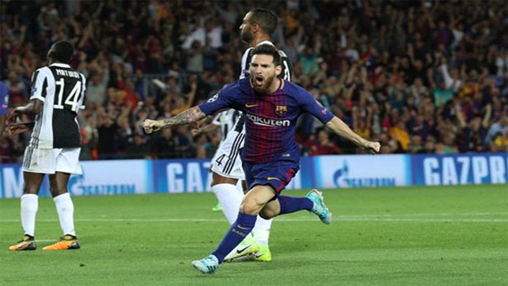 Messi, cú đúp, Barca, đè bẹp, Juventus