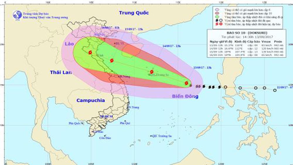 Bão số 10 tiếp tục mạnh lên, cảnh báo bão nguy hiểm cấp độ 4 - cấp cao nhất