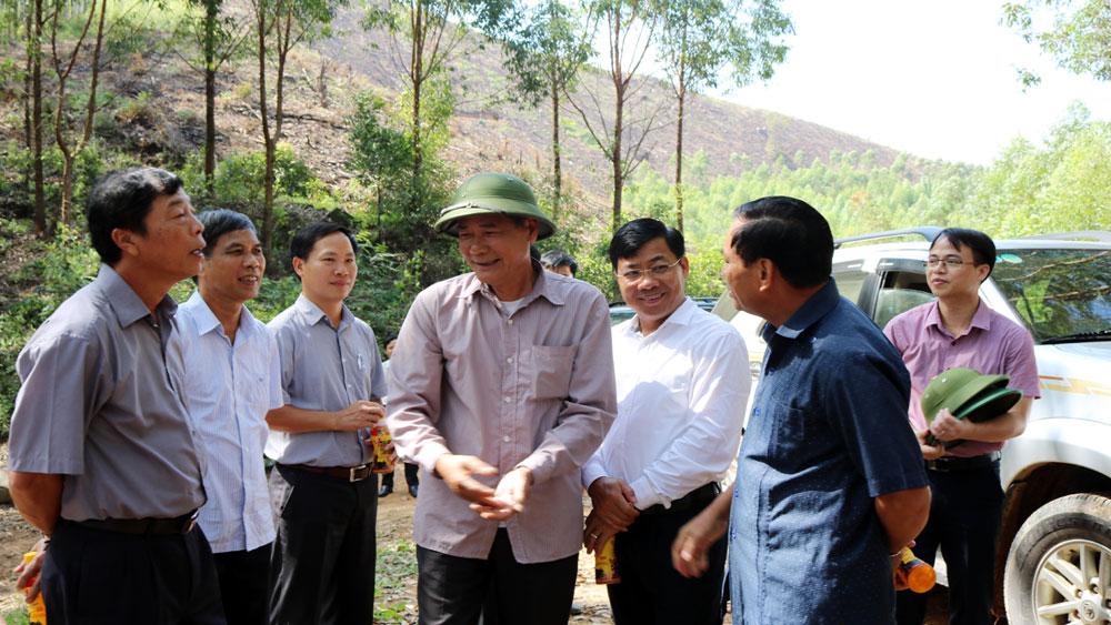 Kiểm tra tại huyện Lục Nam, Bí thư Tỉnh ủy Bùi Văn Hải chỉ đạo: Quan tâm bảo vệ, khai thác hiệu quả tài nguyên rừng
