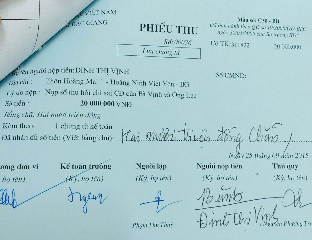 Ông Nguyễn Văn Lục, bà Đinh Thị Vịnh, điều chỉnh chế độ hưu